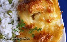 Csirkemell Dubarry módra recept fotóval Lasagna, Baked Potato, Potatoes, Meat, Chicken, Baking, Ethnic Recipes, Food, Potato