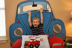 DIY: Create Your Own Custom Car Headboard. would love this as a kombi Custom Headboard, Diy Headboards, Painted Headboards, Boy Room, Kids Room, My Bebe, Crafts For Kids, Diy Crafts, Thing 1