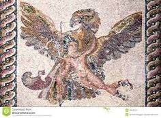 Eagle holding a man in flight.