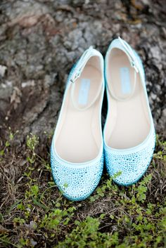 Light Blue Bridal Ballet Flats | Holly Graciano Photography https://www.theknot.com/marketplace/holly-graciano-photography-west-columbia-sc-764877 | By Invitation Only...Event Planning & Design https://www.theknot.com/marketplace/by-invitation-onlyevent-planning-and-design-columbia-sc-243164 | Lexington Municipal Center  - Lexington, South Carolina |