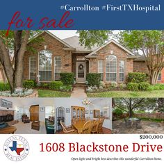 Open light and bright best describes this wonderful Carrollton home.