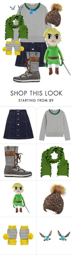 """""""Link"""" by glamourgrammy ❤ liked on Polyvore featuring Topshop, Vika Gazinskaya, Burberry, Nintendo and Miss Pom Pom"""