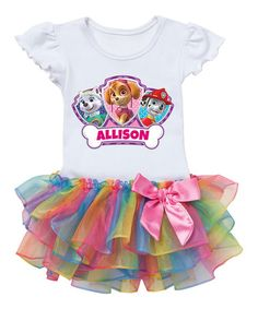 Another great find on #zulily! Rainbow PAW Patrol Heroes Personalized Tutu Tee - Toddler & Girls #zulilyfinds