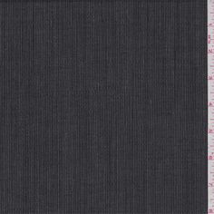 Black and ivory stripe. This lightweight wool fabric has a crisp feel. Imported from Italy.Compare to $25.00/yd