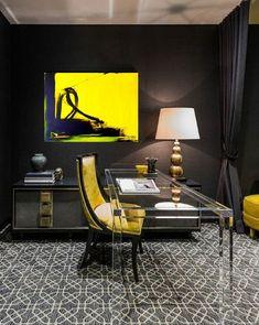 Das Gemälde ist originell, Unikat,Handgemacht, authentisch Moderne Kunst für Wohnzimmer Haus Wand Dekor, Original Acryl Malerei auf Leinwand, Painting Modern Wall Art, Gelb,Wohnen mit Kunst