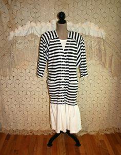 80's Dress 1980s Dress 20s Sailor Dress Gatsby by MagpieandOtis