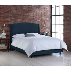 Palermo Nail Button Wingback Linen Bed Collection - Skyline Furniture : Target