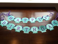 Made to order This banner was handmade with quality cardstock. The letters were cut from glittered cardstock and mounted with foam. Little Mermaid Birthday, Little Mermaid Parties, The Little Mermaid, Moana Birthday Party, 1st Birthday Parties, Girl Birthday, Birthday Ideas, Mermaid Birthday Party Decorations Diy, Happy Birthday Banners