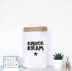 Utensilo: Papiersack für Kinderspielzeug / paper bag for toys by Formart via DaWanda.com