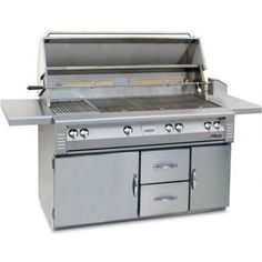 Alfresco LX2 56-Inch Natural Gas Grill On Refrigerated Cart With Sear Zone And Rotisserie