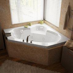 Atlantis Whirlpools 60 X 60 X 23 - Inch Corner Whirlpool Jetted Bathtub…