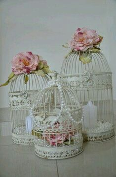 shabby chic birdcages