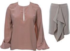 Блузка и юбка - выкройка № 130 из журнала 11/2013 Burda – выкройки комплектов и костюмов на Burdastyle.ru
