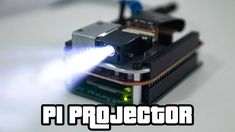 Pi Projector: So wird der Raspberry Pi zum Mini-Beamer Pi Projector: How the Raspberry Pi becomes a mini projector Diy Tech, Cool Tech, Cool Electronics, Electronics Projects, Computer Projects, Projetos Raspberry Pi, Mini Projektor, Esp8266 Arduino, Arduino Programming