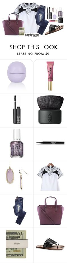 """""""Be Yourself!"""" by mpfurgason ❤ liked on Polyvore featuring Topshop, Too Faced Cosmetics, NARS Cosmetics, Essie, Stila, Kendra Scott, Kate Spade and Tory Burch"""