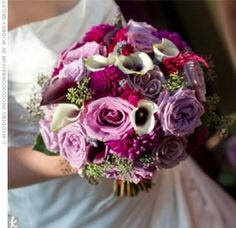 08212011 – Purple and White Bouquet 08212011 - Purple and White Bouquet – The Knot