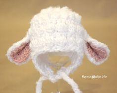 Animal Hat Crochet Patterns lamb