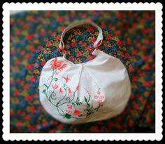 Handmade bag - folk motiv
