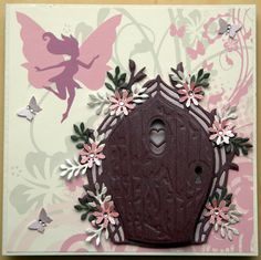Tonic Studio Rococo Fairy door and a few dies to finish the card off. Clay Fairies, Flower Fairies, Lavinia Stamps Cards, Tonic Cards, Tattered Lace Cards, Fairy Pictures, Paper Magic, Embossed Cards, Fairy Doors