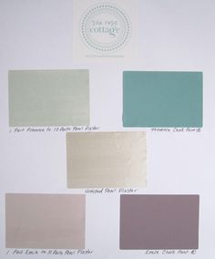 How to tint Pearl Plaster with Chalk Paint, Tips Gray Chalk Paint, Chalk Paint Colors, Plaster Paint, Paint Palettes, Pearl Paint, Paint Walls, Shimmer Lights, Rose Cottage, Paint Chips