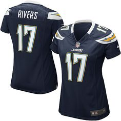 Womens Nike San Diego Chargers Philip Rivers Game Team Color Jersey #17  Price:$39.99  ID:3214