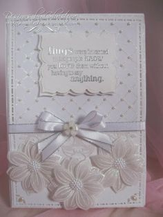 all white card by Christina Griffiths