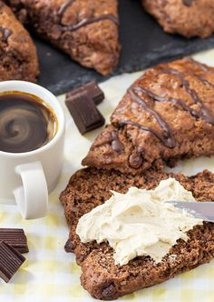 These Chocolate Scones with Coffee Whipped Cream will make your brunch tomorrow you best one yet
