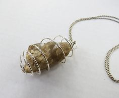 Large Natural Smokey Quartz Free Form Crystal in silver plated bead cage by GypsyDreamerCafe, $22.00