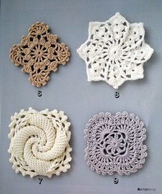 "podkins: "" Crochet Lace by Yukiko Kuro - free chart patterns via the link. """