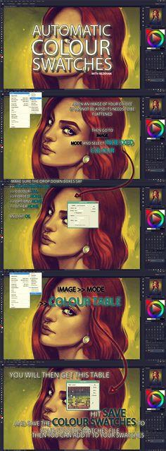 :Bulk Swatching Tutorial: by *RezKhanDimech on deviantART