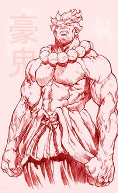 Akuma by mr. Street Fighter Characters, Fantasy Characters, Figure Drawing, Drawing Reference, Character Concept, Character Art, Character Inspiration, Akuma Street Fighter, Japon Illustration