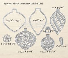 Delicate Ornaments Thinlits Dies sizes shared by Dawn Olchefske #dostamping #stampinup
