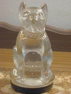 Antique/Vintage Bulldog Clear Glass Candy Container, Excellent Condition! #VictoryGlass Bulldog, Vintage Candy, Candy Containers, Old Bottles, Glass Candy, Mason Jar Wine Glass, Vase, Antiques, Tableware