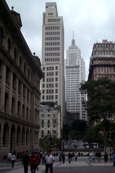 Sao Paulo. Contrast between between old and contemporary architecture. Gotta love it.