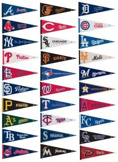 MLB Baseball Pennant Set