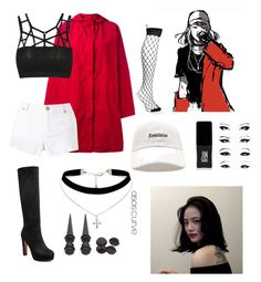 """""""Min yoonji on stage"""" by btssuga02 ❤ liked on Polyvore featuring Issey Miyake Cauliflower, Miss Selfridge, ASOS Curve, Forever 21, JINsoon, Hot Topic and Boohoo"""