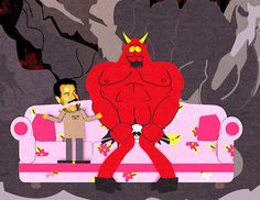 South Park - Sadam and Satan South Park, Trey Parker, Writing Games, Eric Cartman, Sympathy For The Devil, Best Love Stories, Funny Movies, Funniest Movies, Frames
