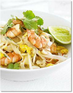 Low FODMAP Shrimp Pad Thai http://www.ibssano.com/low_fodmap_recipe_shrimp_pad_thai.html