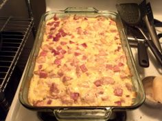 Chicken Cordon Bleu Casserole. This recipe makes a massive amount. I believe I'll have to cut it back a bit. As tasty as this looks, I wouldn't want to eat it all month!