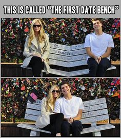 The first date bench.