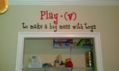 Kids room or play room removable wall decal Play by WrappedInVinyl, $30.99