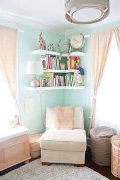Pastels are most definitely not reserved for girls! The wall color in this nursery done for a baby boy will testify as much. It's such an inviting space and you'll love to see how it all came together.