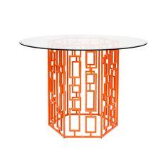 Jackson Orange Powder Coated Dining Table-54
