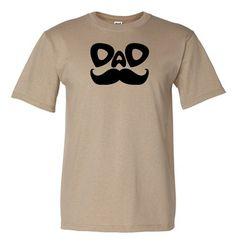 Dad Mustache birthday TShirt mens grey color by FreshFrogTees, $14.00