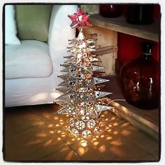 Punched tin Christmas trees! | What YOU can find in OUR store ...