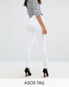 Shop ASOS DESIGN Tall Ridley high waisted skinny jeans in optic white. With a variety of delivery, payment and return options available, shopping with ASOS is easy and secure. Shop with ASOS today. Best White Jeans, White Skinny Jeans, Mid Rise Skinny Jeans, Skinny Fit, Jeans For Tall Women, Tall Jeans, Women's Jeans, Asos, Yellow Jeans