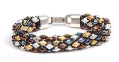 DiamonDuo and Demi Round bracelet, by Tammy Honaman. tubular peyote ~ Seed Bead Tutorials
