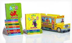 Sesame Street ABCs and 123s with Elmo and Friends 16 Book Bus by Sesame Street http://www.amazon.com/dp/160745663X/ref=cm_sw_r_pi_dp_Q6QDub10T3287