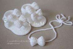 Crochet bebé sandalias gladiador tieback zapatillas bebé