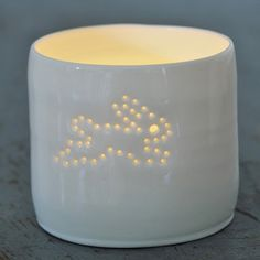 My Owl Barn: Luna Light: Ceramic Tea Light Holders